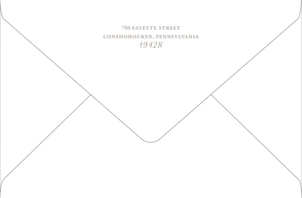 Outer Mailing Envelope - Return Address