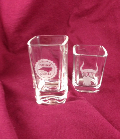 NC North Carolina 2.75 oz. Tall Shot Glasses