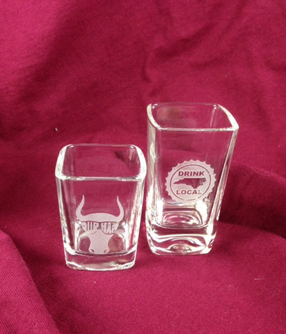 NC North Carolina 2.5 oz Shot Glasses