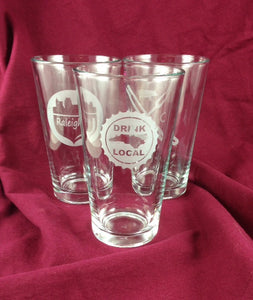 L. NC North Carolina NC Pint Glasses
