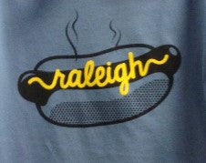 Raleigh, North Carolina Hot Dog T-shirt - Men's Tee