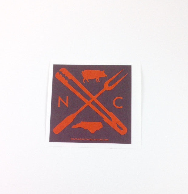 North Carolina NC BBQ Sticker