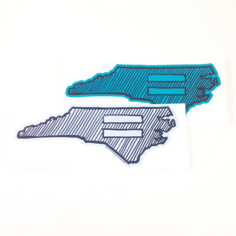 North Carolina NC Equality Sticker
