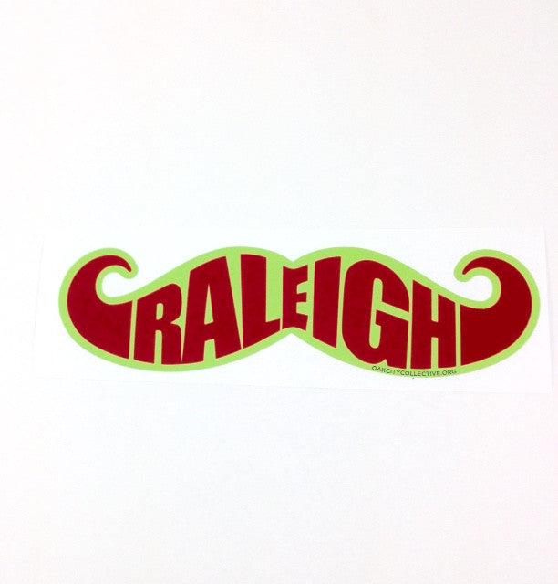 North Carolina NC Raleigh Mustache Sticker