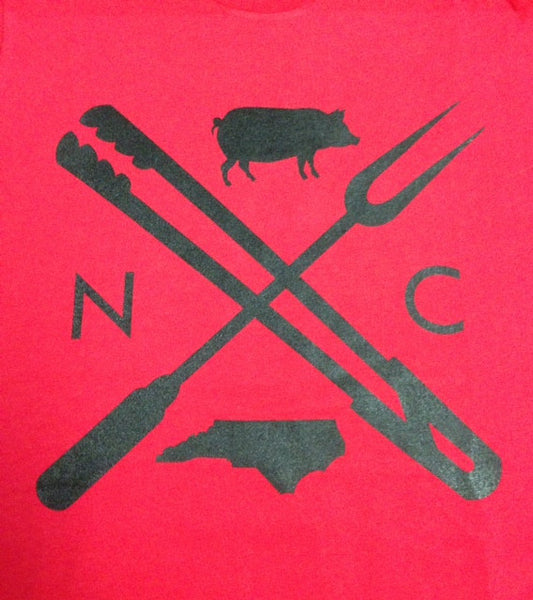 North Carolina NC Eat Local BBQ Long Sleeve Shirt