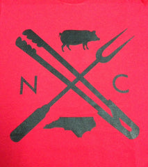2. North Carolina NC Eat Local BBQ Long Sleeve Shirt