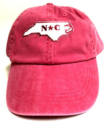 North Carolina State Distressed Baseball Hat - Stonewashed Hat