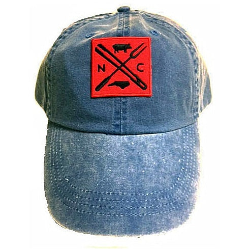 North Carolina BBQ Cap - Distressed Baseball Hat