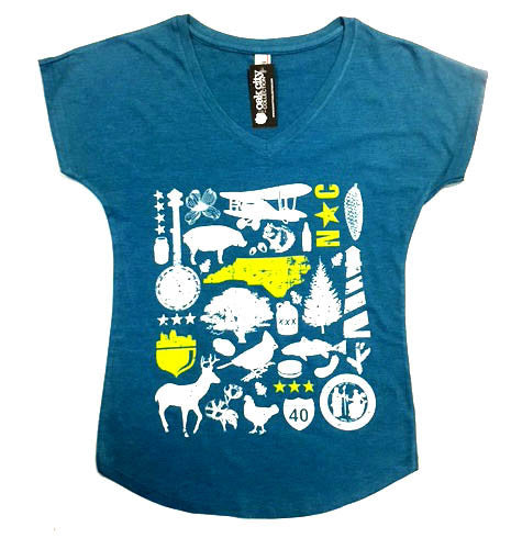 North Carolina NC Ladies ICON Shirt / Top