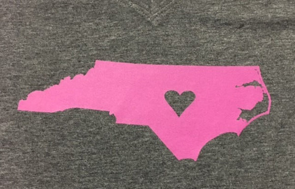 My Heart is in N.C. - Ladie's Tee
