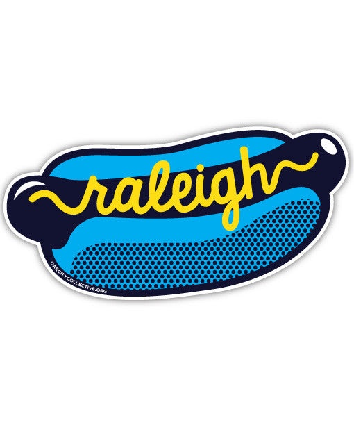 Raleigh North Carolina NC Hot Dog Sticker