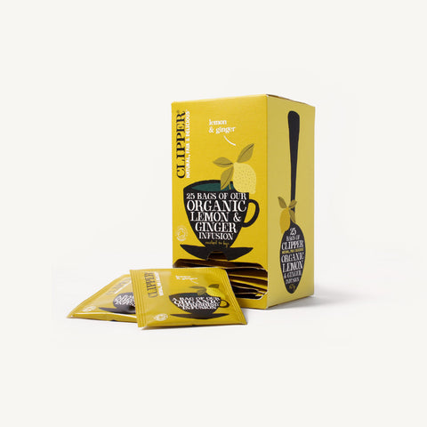 Clipper Lemon & Ginger 25 Tea Envelopes