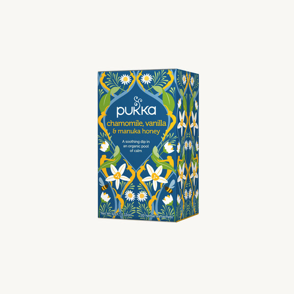 Pukka Chamomile, Vanilla & Manuka Honey 20 Envelopes