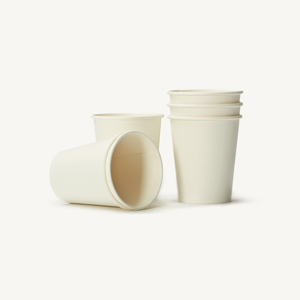 Single Wall Plain Paper Cups 8oz