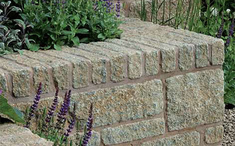Carluke Split, Pitched And Rumbled Garden Walling