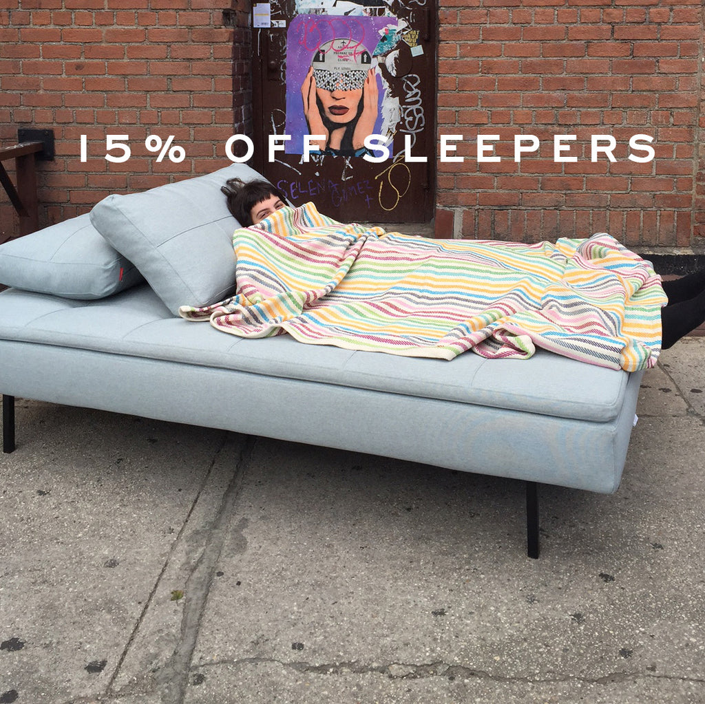15% OFF SLEEPERS THIS WEEKEND
