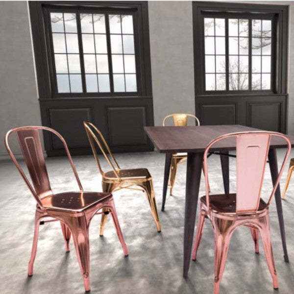 EMERSON DINING CHAIR - SET OF TWO - ROSE GOLD