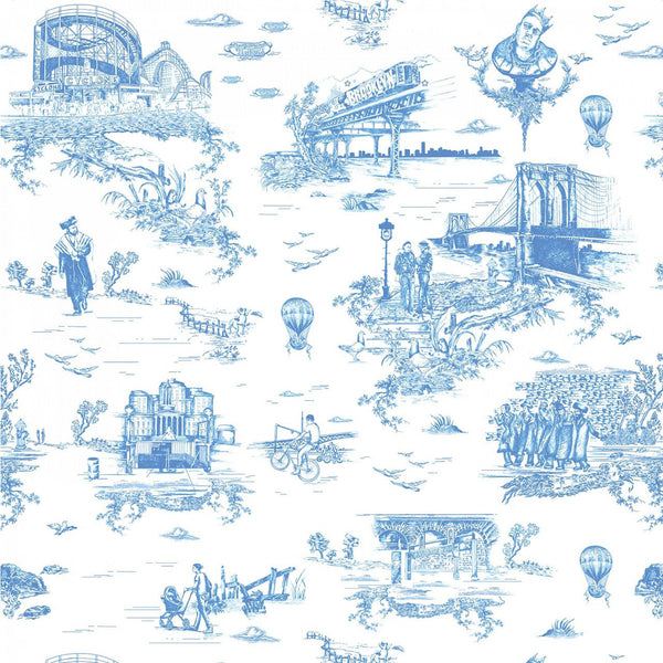 BROOKLYN TOILE   PORCELAIN BLUE