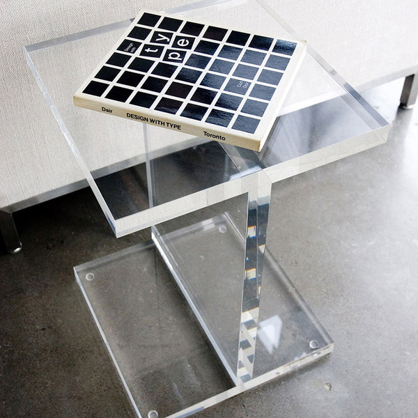 I-BEAM ACRYLIC  TABLE