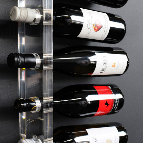 CLEAR WALL WINE RACK