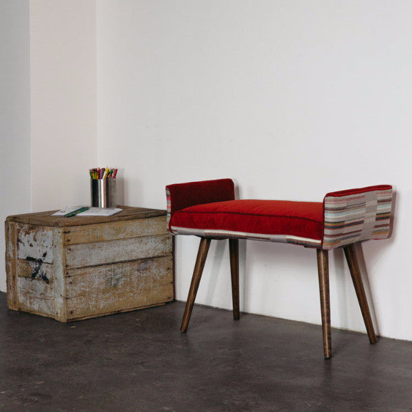 MID-CENTURY CUSTOMIZABLE SINGLE BENCH