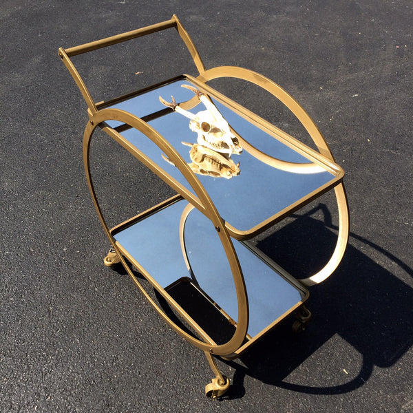 MIRROR BAR CART
