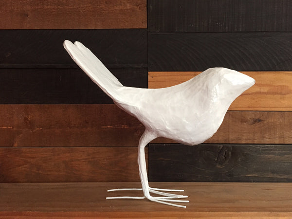 HEART TAIL BIRD  WHITE
