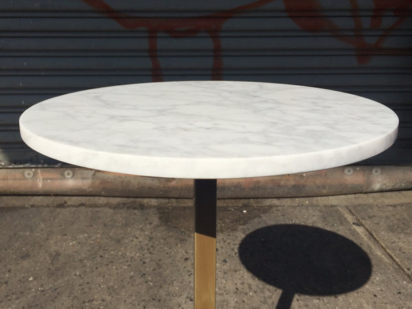 MARBLE PEDESTAL SIDE TABLE