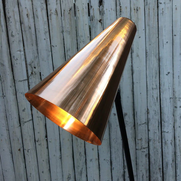 COPPER CONE FLOOR LAMP