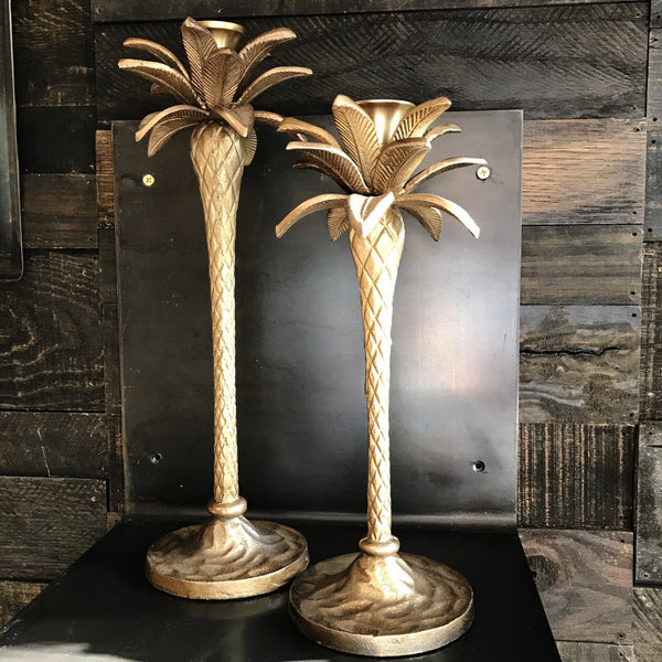 PALM TREE CANDLESTICK