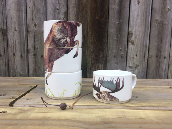 MOOSE STACKING MUGS