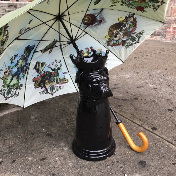 BLACK DOG UMBRELLA STAND
