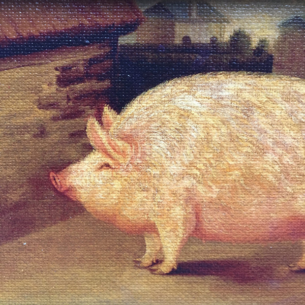 CREEPY PIG PAINTING