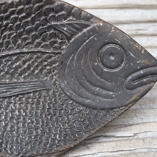 PEWTER FISH DISH