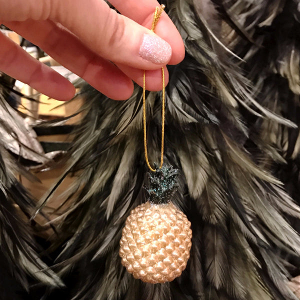 GLITTER PINEAPPLE ORNAMENT