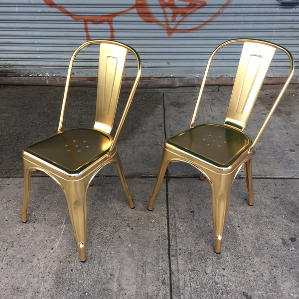 EMERSON DINING CHAIR - SET OF TWO - GOLD