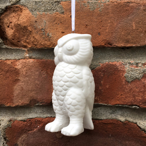 CERAMIC OWL ORNAMENT