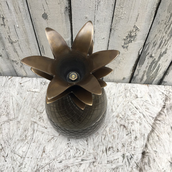 BRASS PINEAPPLE CONTAINER    SMALL