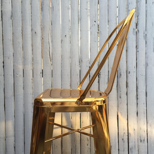 EMERSON BAR STOOL SET    GOLD