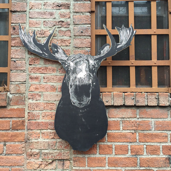 LASER CUT WOOD MOOSE