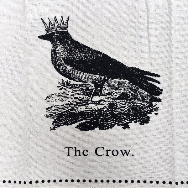 CROWNED CROW TEA TOWEL