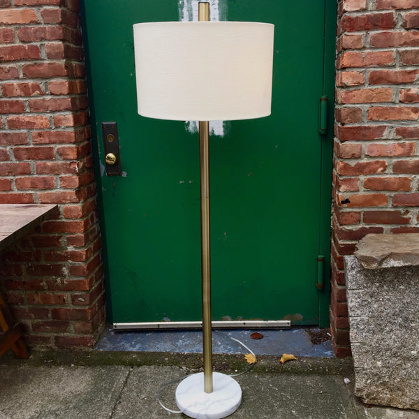MARBLE & BRASS FLOOR LAMP