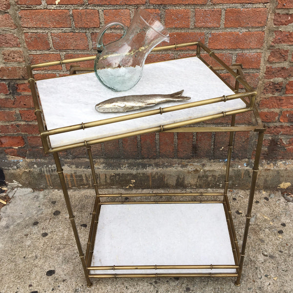 BAMBOO MARBLE TRAY TABLE