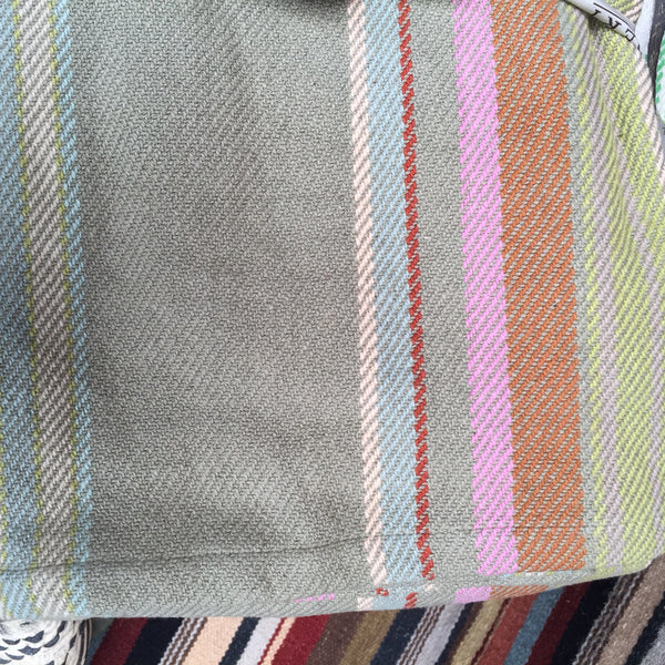 GREEN STRIPE THROW