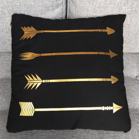 GOLD ARROW PILLOW