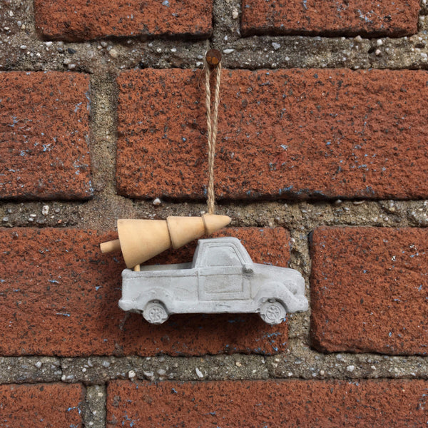 CEMENT VEHICLE ORNAMENT