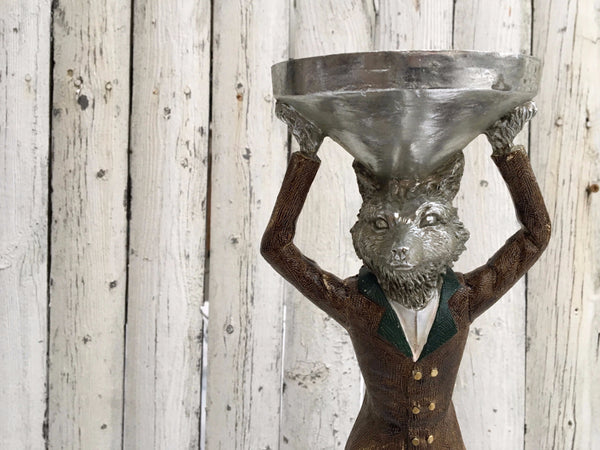 HUNTING FOX CANDLE HOLDER