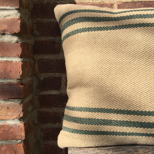 INDOOR OUTDOOR STRIPE PILLOW   GREEN