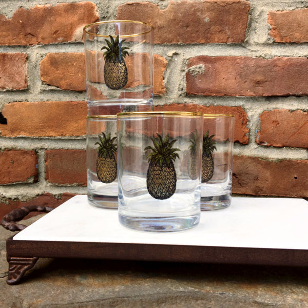 DOUBLE OLD FASHIONED PINEAPPLE SET