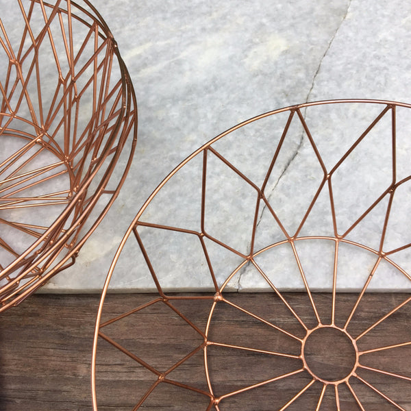 COPPER WIRE BOWL